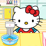 Hello Kitty Making cake