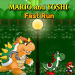 Mario and Yoshi Fast Run