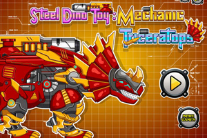Steel Dino Toy Mechanic Triceratops