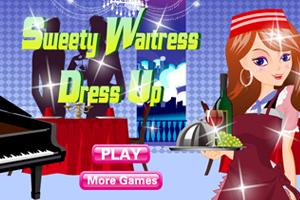 Sweety Waitress Dress Up