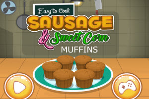 Easy to Cook Sausage and Sweet Corn Muffins