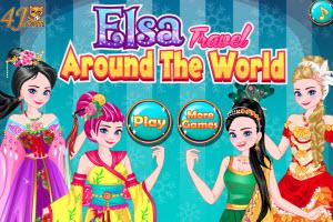 Elsa Travel Around The World